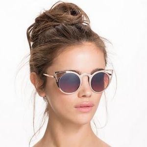 Aldo Gold Metal Cat Eye Sunglasses - 2/$25
